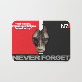 NEVER FORGET - Mordin Solus- Mass Effect Bath Mat
