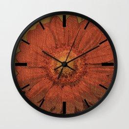 Gerbera Wall Clock