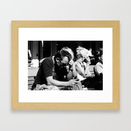 Text Message Framed Art Print