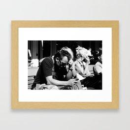 Text Message Framed Art Print