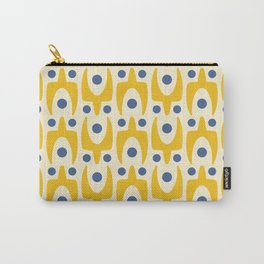 Mid Century Modern Abstract Pattern 641 Yellow and Blue Carry-All Pouch