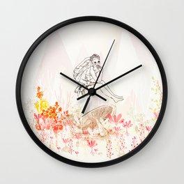 mashroom lady wonderland  Wall Clock