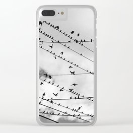 Birds Before the Storm Clear iPhone Case