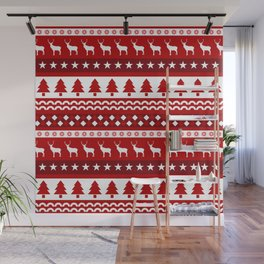Christmas Pattern Wall Mural