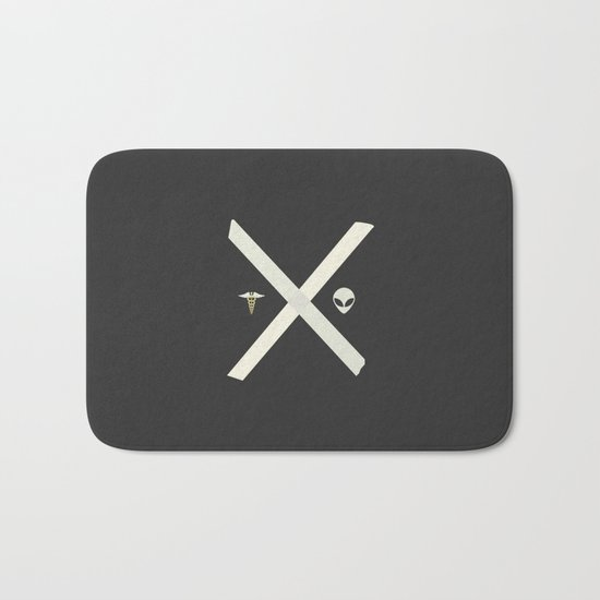 Mulder and Scully Bath Mat