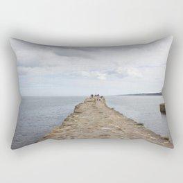 Sea wall St. Andrews Rectangular Pillow