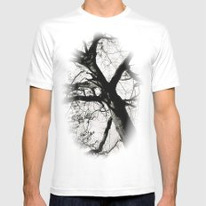 The Tree of Life MEDIUM White Mens Fitted Tee