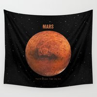 mars Wall Tapestries featuring Mars by Terry Fan