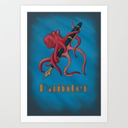 Painter-pus Art Print