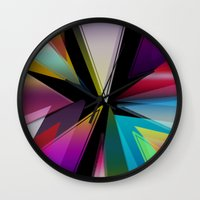 triangle Wall Clocks featuring Triangle by Jason Michael
