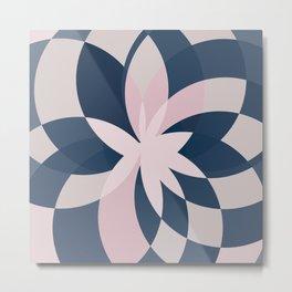 Rose Blue Bloom Metal Print