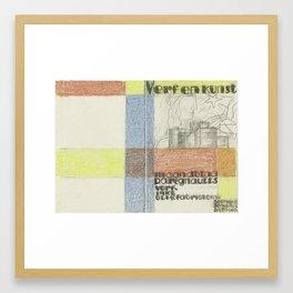 Maandblad Verf en Kunst van P.A. Regnault (ontwerp in kleur), Leo Gestel, in or after 1931 - in or b Framed Art Print