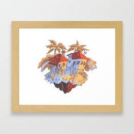 Dance Houses Framed Art Print
