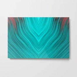 stripes wave pattern 3 2s Metal Print