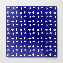 Wild polka dot 36- dark blue Metal Print