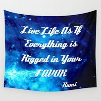 inspirational Wall Tapestries featuring Inspirational by 2sweet4words Designs