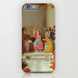 "Jean-Auguste-Dominique Ingres ""Jesus Among the Doctors"" iPhone Case"