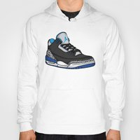 sport Hoodies featuring Jordan 3 (Sport Blue) by Pancho the Macho