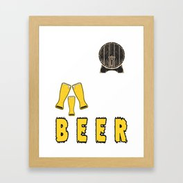 bring happiness best friend - I love beer Framed Art Print