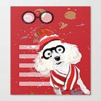 waldo Canvas Prints featuring Wheres Waldo by grapeloverarts