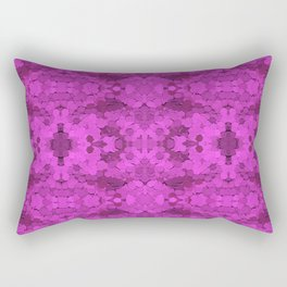 Fuschia Sequin Pattern Rectangular Pillow