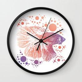 Betta Splendens Retro print I Siamese Fighting Fish Gift Wall Clock