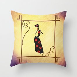 Proud Woman Dazzle in Red Throw Pillow