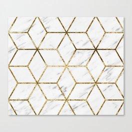 Gatsby golden marble Canvas Print