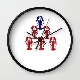 Alpha Blue Lobster Hierarchy Jordan Peterson Meme Wall Clock
