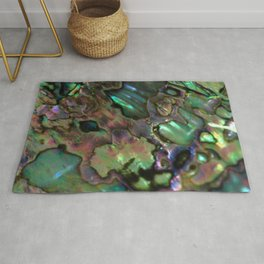 Oil Slick Abalone Mother Of Pearl Rug