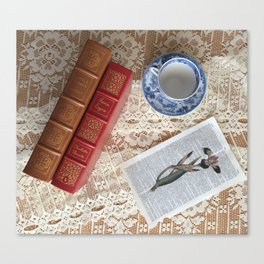 Little Women and Jane Eyre in Tableau Canvas Print