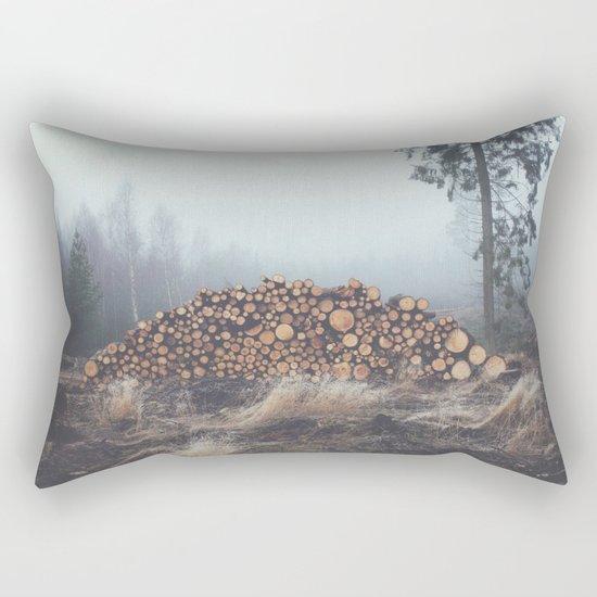 Firewood Rectangular Pillow