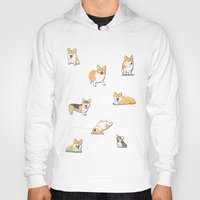 corgi Hoodies featuring Corgi by okayleigh