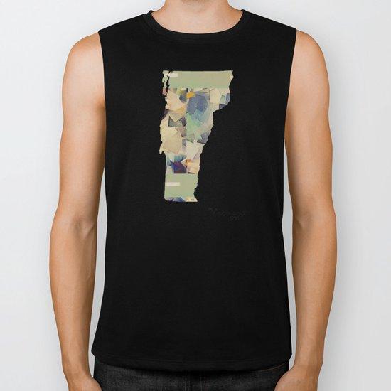 Vermont state map Biker Tank