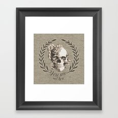 You are not here Framed Art Print