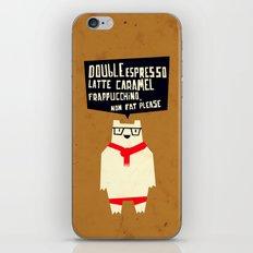 Yeti wants Coffee! iPhone & iPod Skin