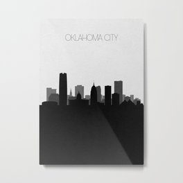 City Skylines: Oklahoma City Metal Print