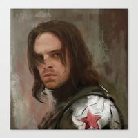 winter soldier Canvas Prints featuring WS 1 by Wisesnail