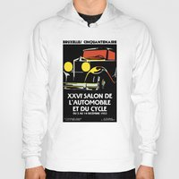 brussels Hoodies featuring Vector art deco Brussels 1930s auto salon by aapshop
