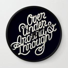 Over Under Around & Through Wall Clock