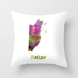 Belize in watercolor Throw Pillow