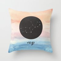 virgo Throw Pillows featuring Virgo by snaticky