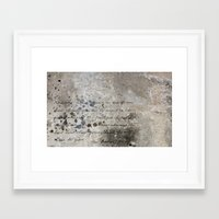 letter Framed Art Prints featuring LETTER by ED design for fun