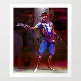 Cyberpunk policeman Art Print
