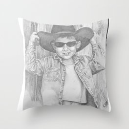 Howdy Pardner Throw Pillow