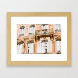 Façade Lyonnaise Framed Art Print