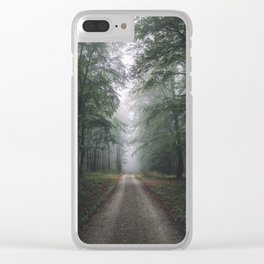 Autumn Forest Walk Clear iPhone Case