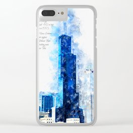 Sears Tower, Chicago Clear iPhone Case