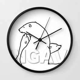 The Ungava Collection: The Polar Bear Family Wall Clock