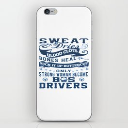 Bus Driver Woman iPhone Skin